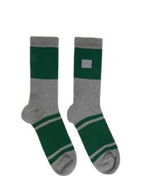 Acne Studios Grey Patch Striped Socks