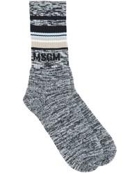 MSGM Logo Intarsia Knit Socks