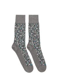BOSS Two Pack Grey Mini Pattern Socks