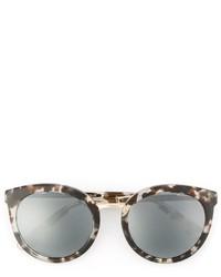 Dolce & Gabbana Printed Oval Frame Sunglasses