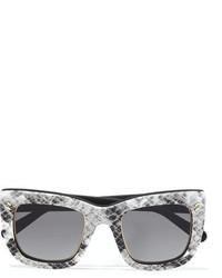 Stella McCartney Square Frame Printed Acetate Sunglasses Gray