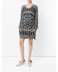 Andrea Bogosian Embellished Printed Sweater Dress