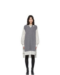 Maison Margiela Off White Sweater Vest Dress