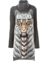 Roberto Cavalli Tiger Print Knit Dress