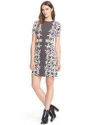 Tory Burch Short Sleeve Print Ponte Dress