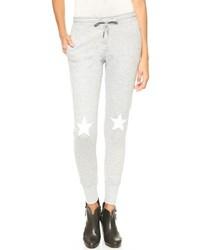 Grey Print Sweatpants