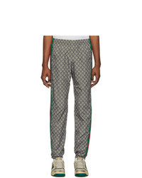 Gucci Brown Nylon Gg Oversized Lounge Pants