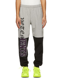 Vetements Grey Black Horizontal Cut Up Logo Lounge Pants