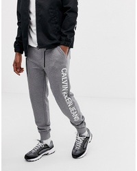 Calvin Klein Jeans Institutional Side Logo Sweatpants Grey Heather