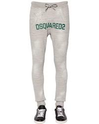 DSQUARED2 Print Cotton Jersey Sweatpants