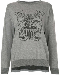 Hysteric Glamour Butter Fly Print Sweatshirt
