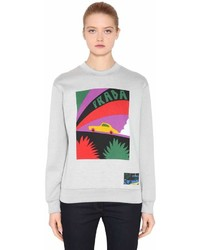 Prada Car Printed Cotton Blend Sweatshirt