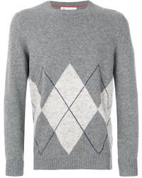 Brunello Cucinelli Cashmere Hexagon Print Pullover