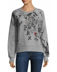Burberry Graffiti Print Sweatshirt