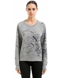 Burberry Graffiti Printed Neoprene Sweatshirt