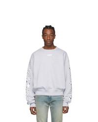 Off-White Grey Airport Tape Sweatshirt