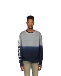 Faith Connexion Grey And Blue Degrade Sweatshirt