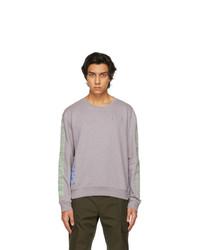 McQ Grey And Green Regular Pullover Sweatshirt