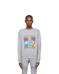 Balmain Grey And Multicolor Logo Sweatshirt