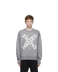 Kenzo Grey Big X Sport Sweatshirt