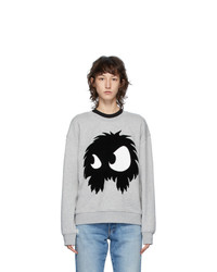 McQ Alexander McQueen Grey Chester Monster Sweatshirt