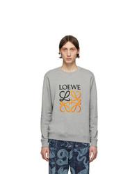 Loewe Grey Embroidered Sweatshirt