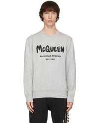 Alexander McQueen Grey Graffiti Sweatshirt