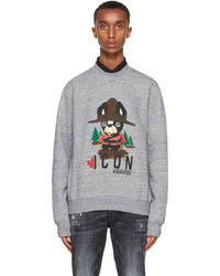 DSQUARED2 Grey Graphic Icon Sweatshirt