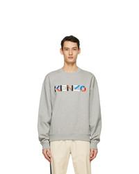Kenzo Grey Oversized Logo Sweatshirt