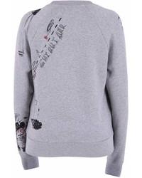 Burberry Grey Printed Sweatshirt