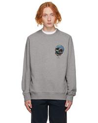 Ps By Paul Smith Grey Skull Sweatshirt