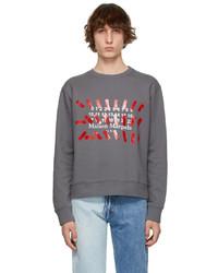 Maison Margiela Grey Tape Print Sweatshirt
