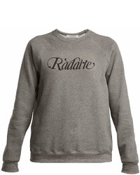 Rodarte Logo Print Cotton Blend Sweatshirt