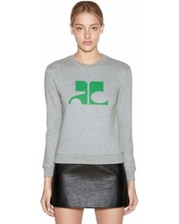 Logo printed cotton sweatshirt medium 7012149