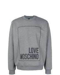 Love Moschino Logo Square Jersey Sweater