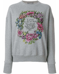 Alexander McQueen Love Wreath Print Sweatshirt