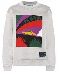 Prada Printed Cotton Blend Sweatshirt