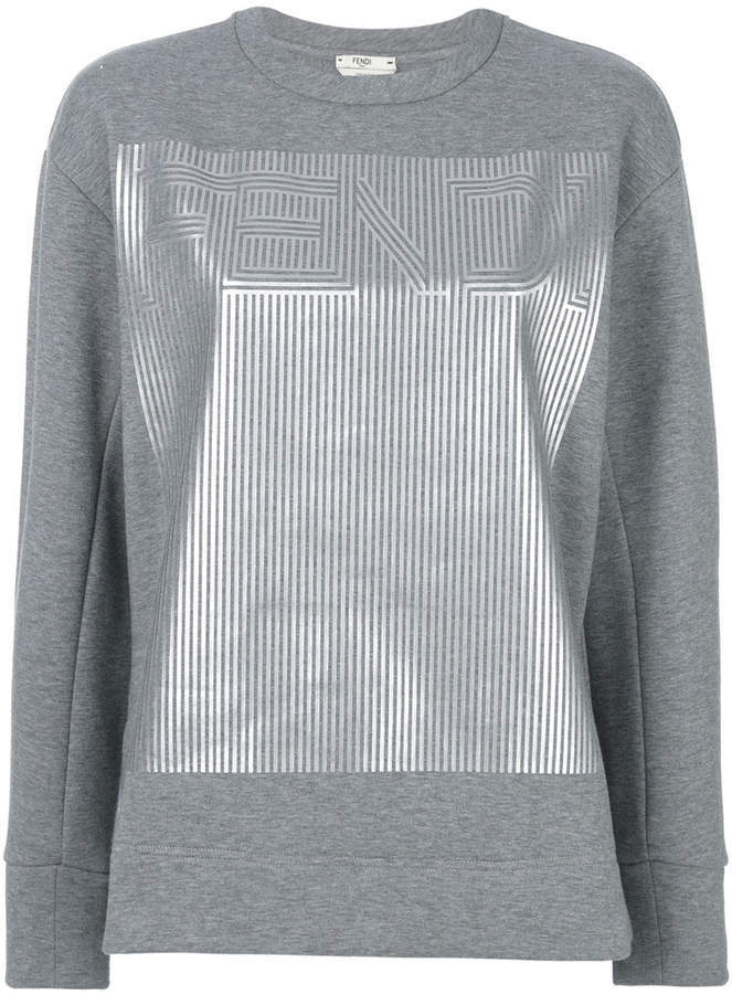 d7aa11214 Fendi Printed Logo Sweatshirt, $345   farfetch.com   Lookastic.com