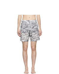 Off-White Grey All Over Arrows Swim Shorts