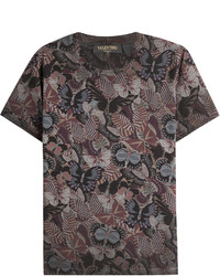 Valentino Butterfly Printed Cotton T Shirt