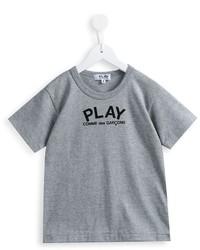 Comme Des Garons Play Kids Heart Print T Shirt