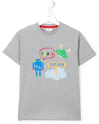 Fendi Kids Monster Print T Shirt