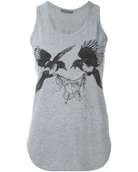 Alexander McQueen Bird Print Tank Top