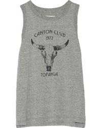 Current/Elliott Canyon Club Printed Mlange Jersey Tank Gray