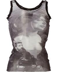 Jean Paul Gaultier Vintage Sheer Printed Tank Top