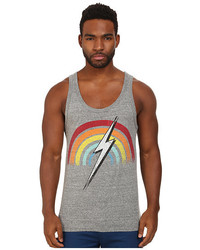 Lightning Bolt Rainbow Triblend Pocket Tank Top