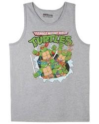 Teenage Mutant Ninja Turtles Tmnt Tank Top Grey