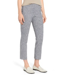 Nic+Zoe Blue Hatching Ankle Pants
