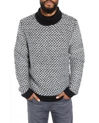 Calibrate Chunky Herringbone Turtleneck Sweater