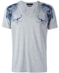 Bird print t shirt medium 604675